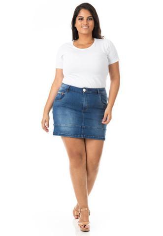 Imagem de Saia Curta Jeans com Barra e Lycra Plus Size