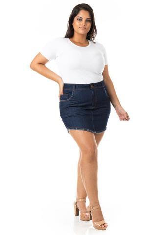 Imagem de Saia Curta Jeans Tradicional Plus Size
