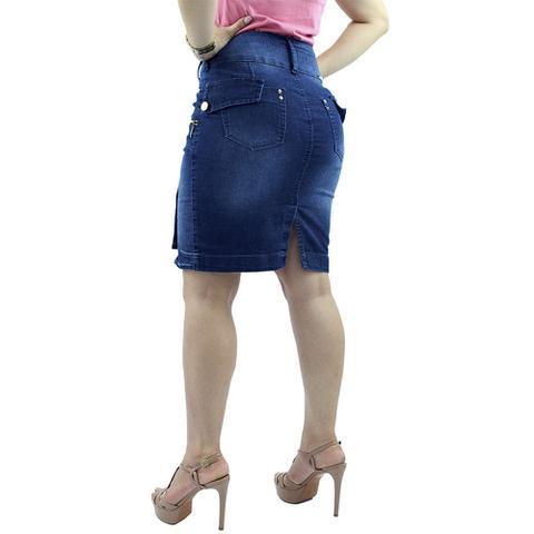 Imagem de Saia Jeans Botões Laterais Detalhe Zíper Anagrom - REF 106