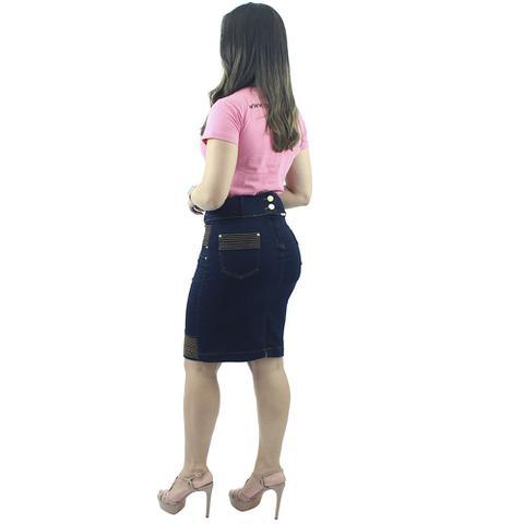 Imagem de Saia Jeans com Elastano Barra Listrada Anagrom Ref.112