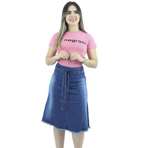 Imagem de Saia Jeans Evasê Com Cinto Anagrom - REF 092