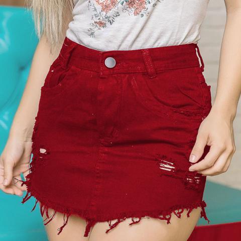 Imagem de Saia Jeans Feminina Destroyer Fashion