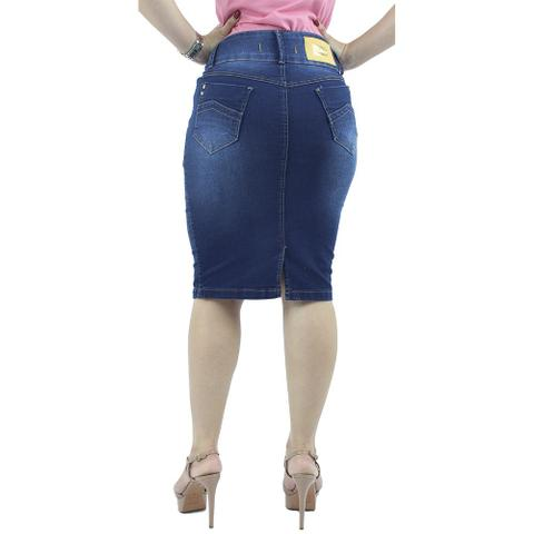 Imagem de Saia Jeans Tradicional Azul Destroyer Anagrom - REF 097