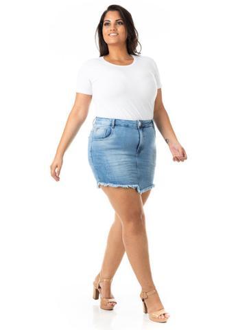 Imagem de Saia Jeans Tradicional com Lycra Plus Size