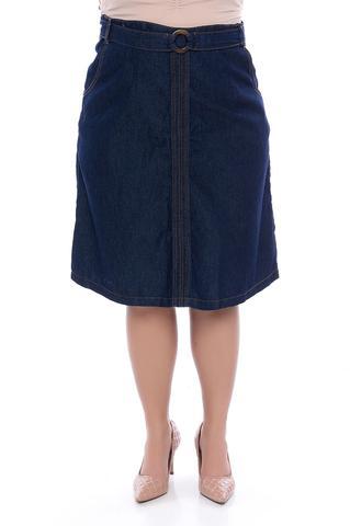 Imagem de Saia Midi Jeans Plus Size