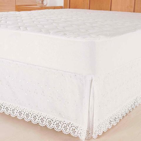 Imagem de Saia para cama box Lasie Ultrassônica Solteiro Branca