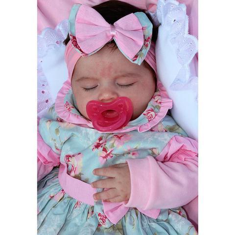 Imagem de Saída de Maternidade Menina Charmosinha Rosa 05 Peças