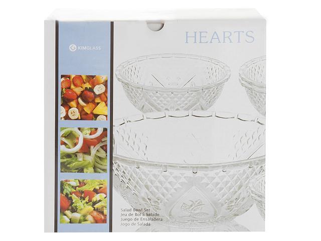Imagem de Saladeira de Vidro Redonda KIG Hearts
