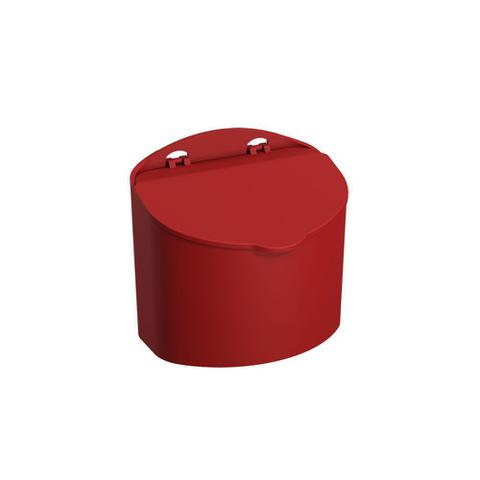 Imagem de Saleiro 500g em polipropileno 13,5 cm vermelho mix coza 10843/0465