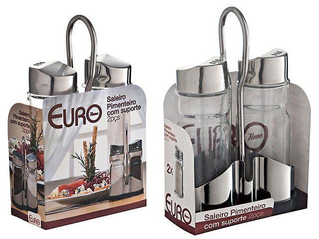 Imagem de Saleiro e Pimenteiro com Suporte Euro Home