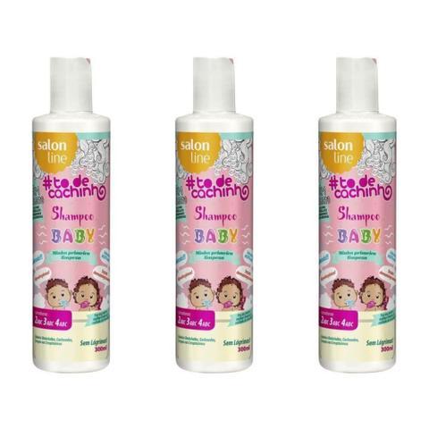 Imagem de Salon Line Baby Shampoo Infantil Todos Cabelos 300ml (Kit C/03)