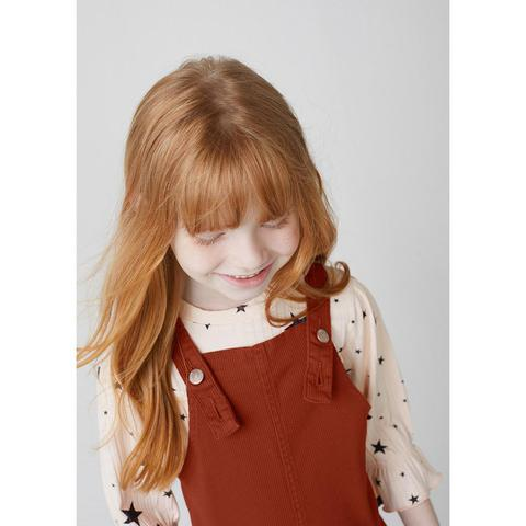 Imagem de Salopete Infantil Menina Em Sarja Cotelê