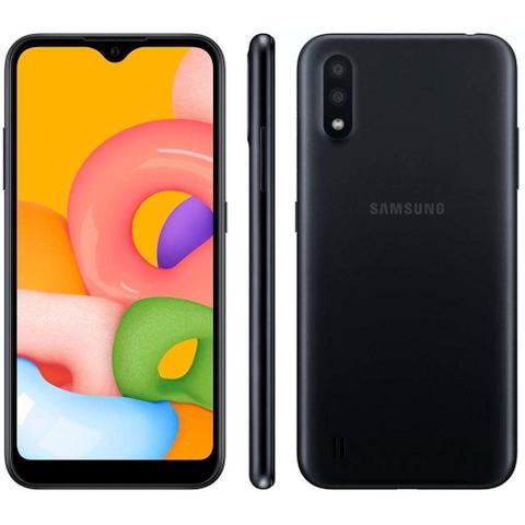 Imagem de Samsung Galaxy A01 Desbloqueado 32GB 4G Android 10.0 Tela 5.7 Octa-Core Câmera 13MP