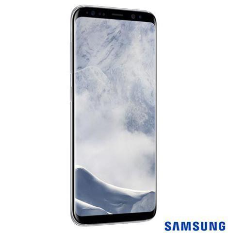Imagem de Samsung Galaxy S8 Prata, Tela de 5,8, 4G, 64GB e 12MP - SM-G950 + Gear S3 Classic Preto com 1,3, Pulseira de Couro