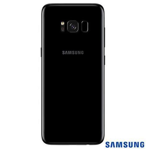 Imagem de Samsung Galaxy S8 Preto, Tela de 5,8, 4G, 64GB e 12MP - SM-G950 + Gear S3 Frontier Preto com 1,3, Pulseira de Silicone