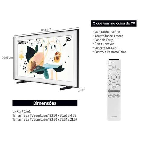 Imagem de Samsung Smart TV QLED 4K LS03T The Frame 2020, Modo Arte, Modo Ambiente 3.0, Suporte No-Gap