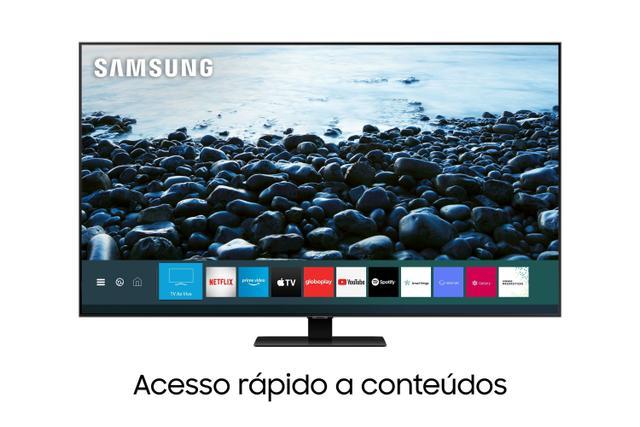 Imagem de Samsung Smart TV QLED 4K Q80T, Pontos Quânticos, Modo Game, Som em Movimento, Design sem Limites, Modo Ambiente 3.0, Controle Único