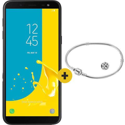 Imagem de Samsung smartphone samsung j600g galaxy j6 preto 32 gb + pulseira + pingente