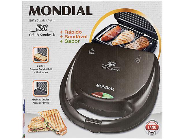 Imagem de Sanduicheira Mondial Fast Grill e Sandwich