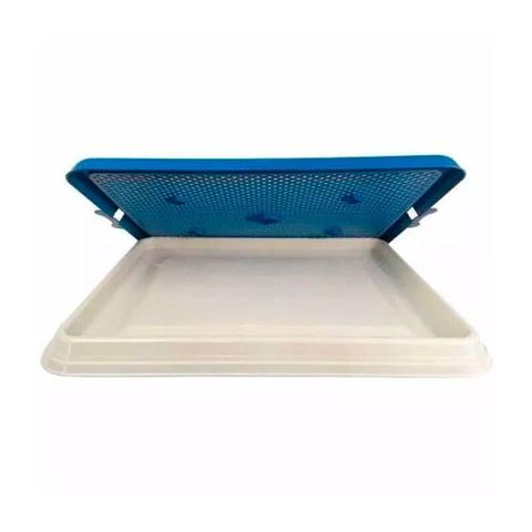 Imagem de Sanitário Canino Tapete Higiênico Cães Xixi Premium Azul