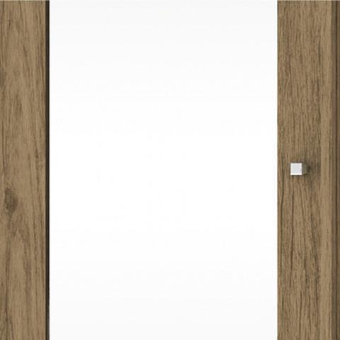 Imagem de Sapateira 1 Porta com Espelho 6 Prateleiras Duetto Henn Rústico