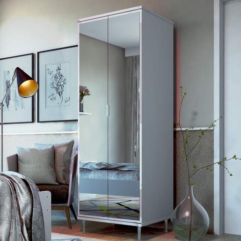 Imagem de Sapateira com Espelho 2 Portas Pradda Imcal Branco