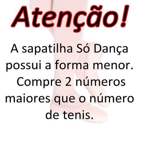 Imagem de Sapatilha Só Dança Meia Ponta F-22 Napa Para Balé Adulto 33 ao 45