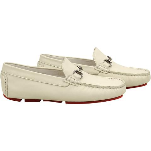 cf1b4c4e0e2 Imagem de Sapato masculino mocassim sandro moscoloni caribean branco bone