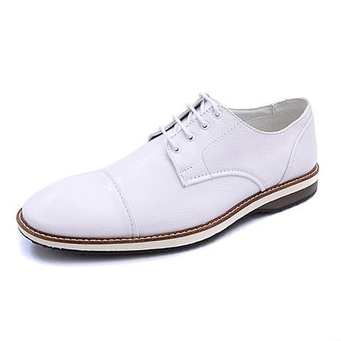 Imagem de Sapato Social PisaForte Branco Premium Com Cadarço