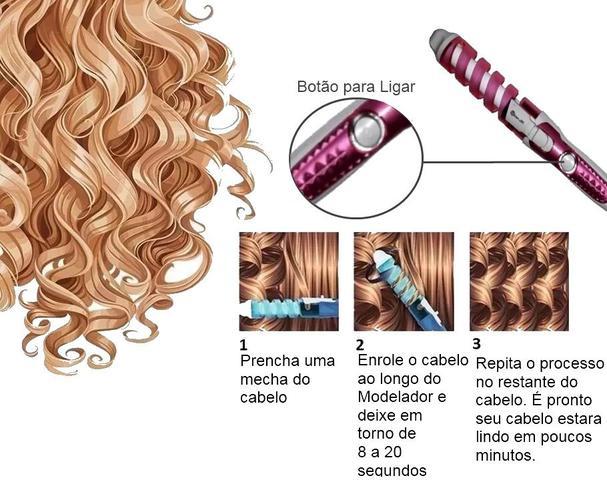Imagem de Secador De Cabelo Gama Italy 2000w Cerâmico Íons Modelador Cachos + Escova Alisadora + Prancha 450F