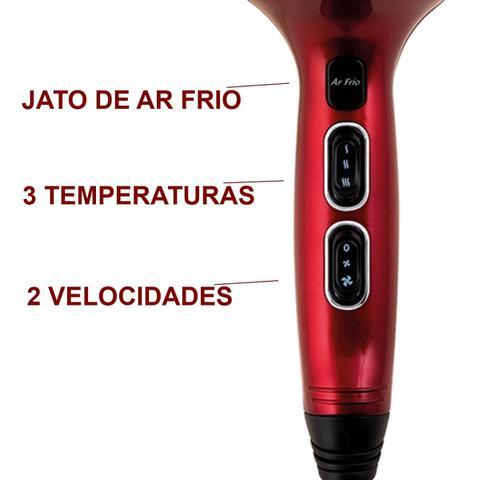 Imagem de Secador De Cabelo Gama Italy 2000w Pro Quente Frio + Chapinha Cerâmica 230c Prancha
