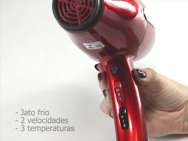 Imagem de Secador De Cabelo Gama Italy Profissional 2100w Vermelho Prancha Titanium 220c Progressiva