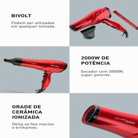 Imagem de Secador de cabelo leve potente bivolt e modelador de cachos