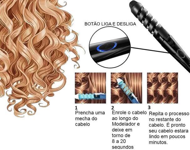 Imagem de Secador De Cabelo Mondial Sc37 2000w Tourmaline Ions Difusor Modelador Eb013 Prancha Titanium Azul