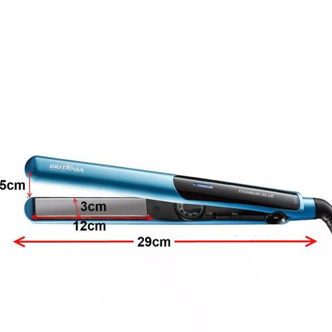 Imagem de Secador De Cabelo Multilaser 1800w Preto Ar Quente e Frio Prancha Titanium Azul Britania Bivolt