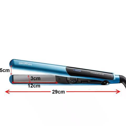 Imagem de Secador De Cabelo Multilaser 2000w Profissional Ep Quente Frio Preto Prancha Titanium Azul Britania