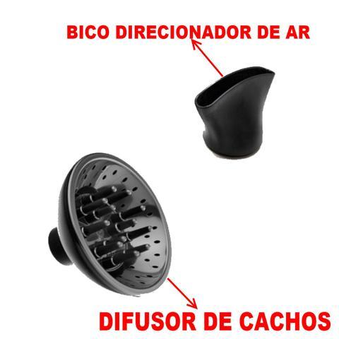 Imagem de Secador De Cabelo Multilaser Pro 1900w Dourado + Difusor + Chapinha Gama Cerâmica 410f