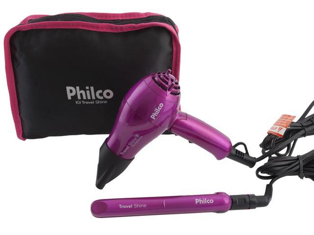 40ee1cecf Secador de Cabelo Philco Kit Travel Shine com Íons - 2 Velocidades ...