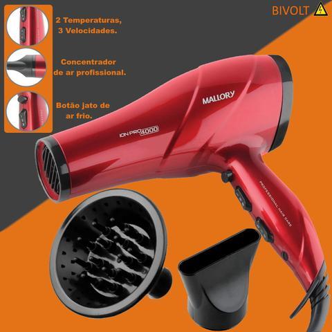Imagem de Secador de cabelos difusor modelador 2 em 1 prancha oferta
