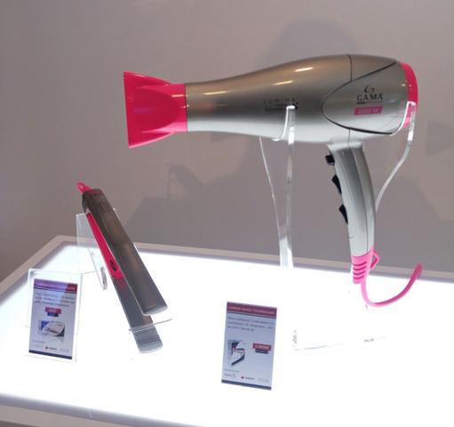 Imagem de Secador De Cabelos Gama Italy 2200w Ion Profissional Salão Rosa + Prancha Cerâmica 440F