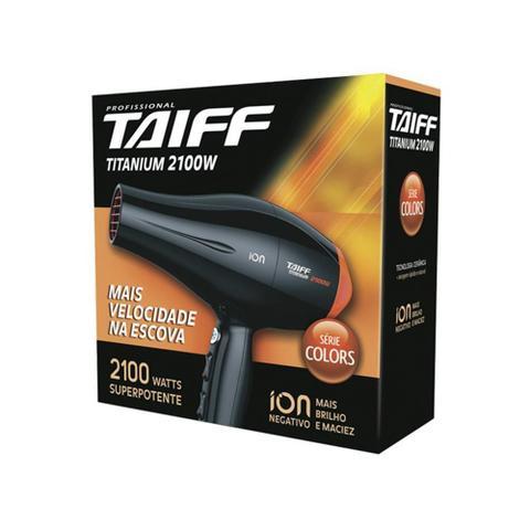 Imagem de Secador de cabelos Profissional Taiff Titanium Color Motor AC 2100w 127v - Laranja