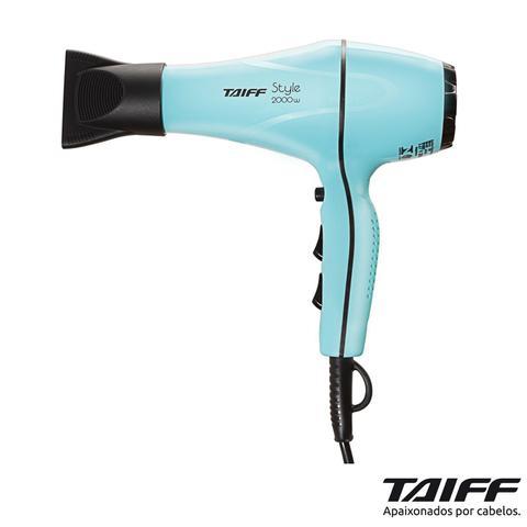Imagem de Secador de Cabelos Taiff Style Tiffany Motor AC Profissional 2000W Azul - 127v