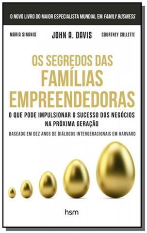 Imagem de Segredos das familias empreendedoras, os