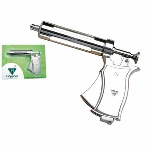 Imagem de Seringa Veterinária Tipo Pistola Automática R.113A Blister 50ml (Emb. contém 1un.) - Hoppner