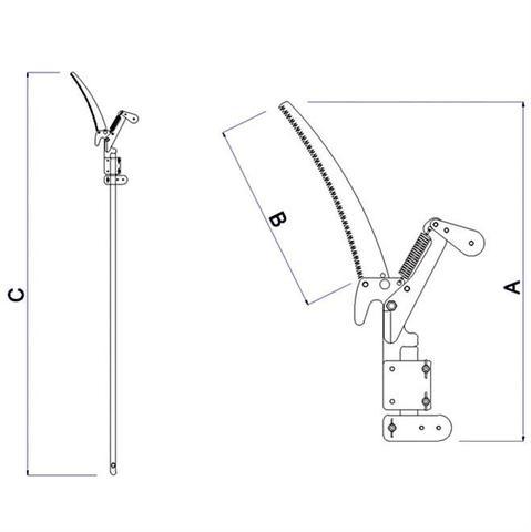 Imagem de Serrote Podador Com Cabo E Corte Duplo 78380771 Tramontina