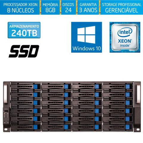Imagem de Servidor-Storage Silix X1200H24 V6 Intel Xeon 3.5 Ghz / 8GB / SSD / 240TB / RAID / Hot-Swap / Win 10