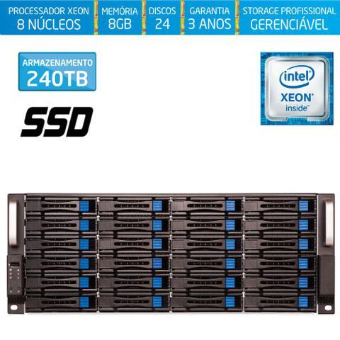 Imagem de Servidor-Storage Silix X1200H24 V6 Intel Xeon V6 3.5 Ghz / 8GB DDR4 / SSD / 240TB / RAID / Hot-Swap