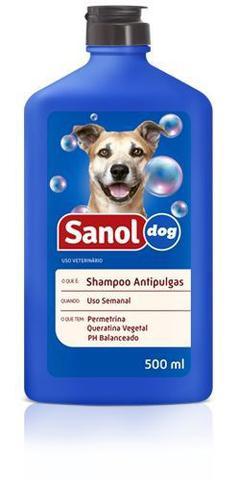Imagem de Shampoo Anti pulgas para Cachorro Sanol Dog 500ml - Shampoo Para Eliminar e previnir pulgas em cães
