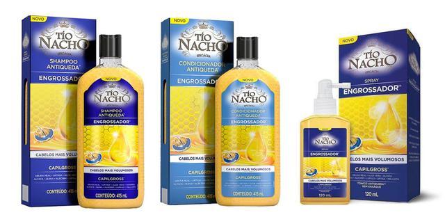 Imagem de Shampoo + Condicionador  E Tônico Engrossador Antiqueda - Tio Nacho 415ml C/3