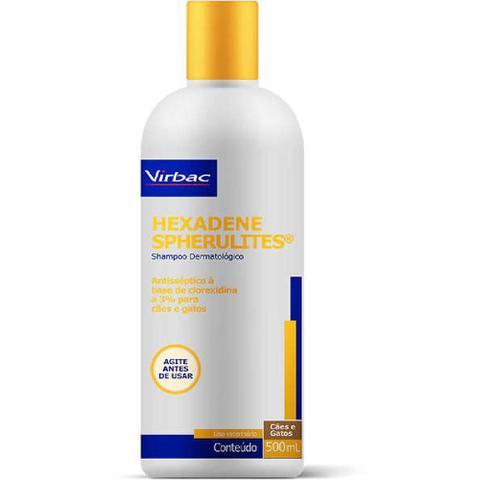 Imagem de Shampoo Dermatológico Virbac Hexadene Spherulites para Cães e Gatos - 500 ml